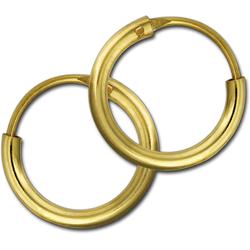 GoldDream Paar Creolen D2GDOB00011K GoldDream Echtgold Ohrringe Creolen (Creolen), Damen Creolen Ohrring aus 333 Gelbgold - 8 Karat, Ø 11mm