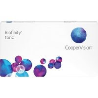CooperVision Biofinity Toric, 3er Pack / 8.70 BC / 14.50 DIA / -2.75 DPT / -0.75 CYL / 160° AX