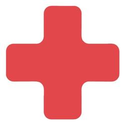 Stellplatzmarkierung »X-Stück PVC« rot, EICHNER