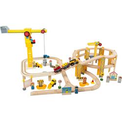 Small Foot Modelleisenbahn-Set Eisenbahnset-Baustelle, Holzspielzeug