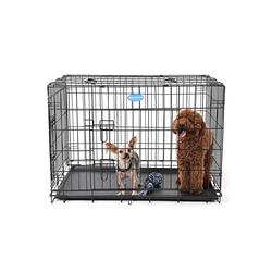 FEANDREA Hundezwinger PPD30H PPD36H PPD42H, Hundezwinger Hundebox Schutzgitter klappbar 91 x 58 x 64 cm schwarz 58 cm x 91 cm x 64 cm