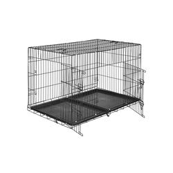 tectake Tiertransportbox Hundebox Gitter tragbar 122 x 76 x 81 cm - 76.0 cm x 81.0 cm x 122.0 cm