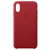Apple iPhone XS Leder Case rot
