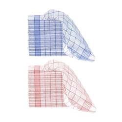 Casa Colori Geschirrtuch 30818-10er, Trockentücher Farbwahl Blau oder Rot rot