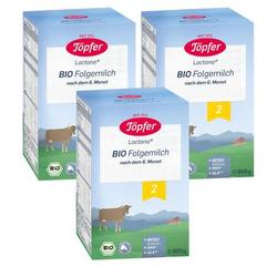 Töpfer Bio Folgemilch 2 3 x 600 g nach dem 6. Monat