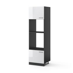 Vicco Mikrowellenumbauschrank Küchenschrank 60 cm R-Line Anthrazit