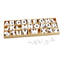 VBS Deko-Buchstaben Buchstabensortiment Holz (156 Stück), 156 weiße Buchstaben