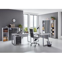 moebel-dich-auf Büromöbel-Set Office Edition, (Büromöbel abschließbar, Set 5) grau