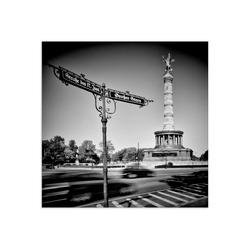 Artland Glasbild Berlin Siegessäule III, Gebäude (1 Stück) 30 cm x 30 cm x 1,1 cm
