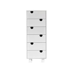 Karup Design Kommode Karup Design HOUSE Kommode mit 6 Schubladen, Weiß
