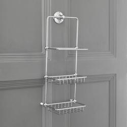 Retro 3-Etagen Duschkorb Wandmontage, von Hudson Reed