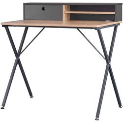 Woltu Schreibtisch, Schreibtisch mit Ablage 90x50x88,5cm