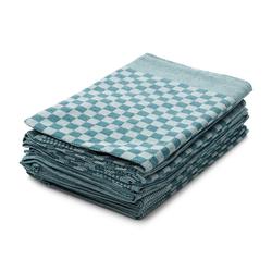 Hometex Premium Textiles Geschirrtuch, (10er Set Geschirrtuch Grubentuch, 100% Baumwolle Zwirn, Sehr saugfähig - Premium Qualität) grün