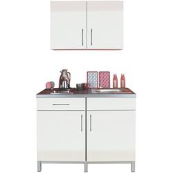 Menke Küchen Küchenzeile Rack-Time Single 120, mit E-Geräten, 120 cm breit