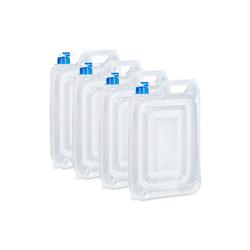relaxdays Kanister Wasserkanister Camping 4er Set, BPA frei 7.5 cm x 40 cm x 27 cm