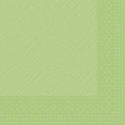 "Mank Tissue Deluxe Servietten ""Basics Uni"", 40 cm x 40 cm, 1/4 Falz, 4-lagig, Farbe: kiwi, 1 Karton = 6 x 50 Stück = 300 Servietten"