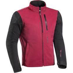 Ixon Brixton Motorrad Textiljacke, schwarz-rot, Größe S