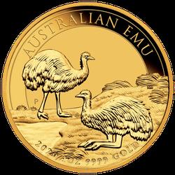 1 Unze Gold Australien Emu 2020