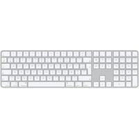 Apple Magic Tastatur USB + Bluetooth AZERTY Aluminium, Weiß