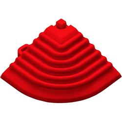 florco® Klickfliesen-Eckleiste, Eckteil rot, 40 cm