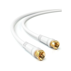 deleyCON deleyCON 7,5m SAT TV Antennenkabel Koaxial Kabel HDTV 4-fach Schirmung Weiß SAT-Kabel