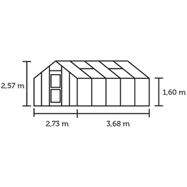 Juliana Kompakt Plus Alu blank HKP 6 mm 9,9 m²