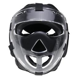 BAY-Sports Kopfschutz Kampfsport Plexiglas Maske Krav Maga Boxen MMA, WP mit abnehmbarer Plexiglas, Vollkontakt, S - XL L