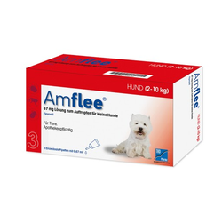 AMFLEE 67 mg Spot-on Lsg.f.kleine Hunde 2-10kg 3 St