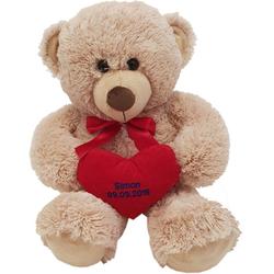 Heunec® Kuscheltier Bär, 70 cm, mit individuell bestickbarem Herz