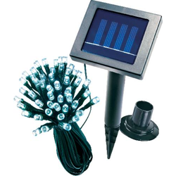 Esotec 102156 Solar-Lichterkette Außen solarbetrieben Anzahl Leuchtmittel 48 LED Weiß Beleuchtete