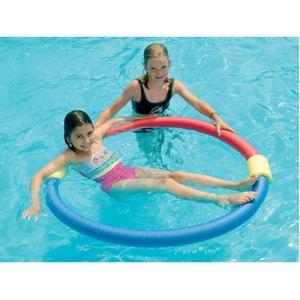 Verbinder für Schwimmnudel 2-Loch, 2X 2 + 2 Set (Rot + Blau)