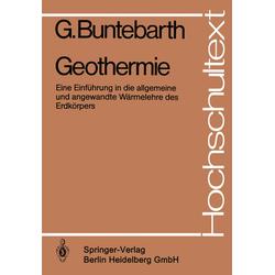 Geothermie als Buch von G. Buntebarth