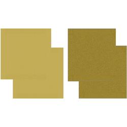 DDDDD Geschirrtuch Cisis, (Set, 4-tlg), Combiset: 2 Küchentücher & 2 Geschirrtücher gelb