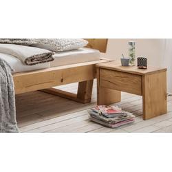 Rustikaler Schubladen-Nachttisch aus massiver Fichte - Basiliano