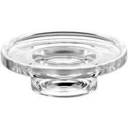 Keuco Seifenschale, Breite: 9 cm, Ø 11,5 cm, Echtkristall-Glas, lose