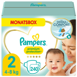 Pampers Premium Protection Windeln, Gr. 2, 4-8kg, Monatsbox (1 x 240 Windeln)