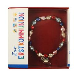 Armband Herzen bunt mit Kreuz elastisches Band