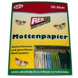 Reinex Kleidermottenpapier, Mottenschutz, 1 Doppelpackung = 20 Stück