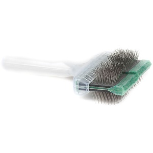 ActiVet Bürste Soft | grüner Flitter | 2in1 Bürste (Bürsten/Striegel) | 9 cm Mega Brush
