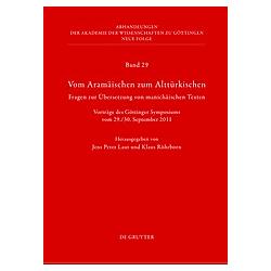 Vom Aramäischen zum Alttürkischen - Buch
