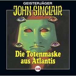 Die Totenmaske aus Atlantis als Hörbuch CD von Jason Dark
