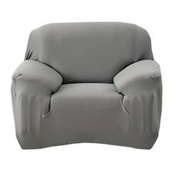 Sofahusse 1-Sitzer Sofabezug elastischer Sofahussen elastischer Sofabezug Sofabezug Sofabezug universeller elastischer Bezug Sesselbezug 90-140CM, kueatily grau