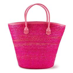 LASCANA Strandtasche, Korbtasche aus Bast rosa
