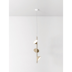 Stilvolle dreiflammige LED-Hängeleuchte Orchid Axo Light sand