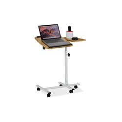 relaxdays Laptoptisch Laptoptisch höhenverstellbar mit Rollen