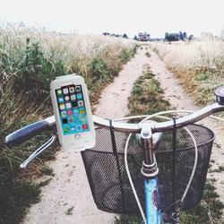 Wasserabweisende Fahrrad Handyhalterung / Fahrradhalter - Apple iPhone 6, 6s > Weiss