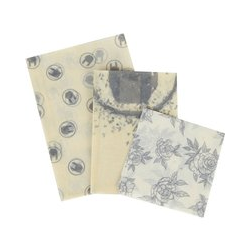 EMP Special Collection Beeswax Cloths Kitchen Set black white