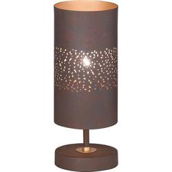 WOFI Ancona 8136.01.09.7000 Tischlampe LED E14 40W Braun-antik