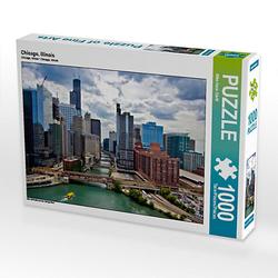 Chicago, Illinois Lege-Größe 64 x 48 cm Foto-Puzzle Bild von Mike Hans Steffl Puzzle