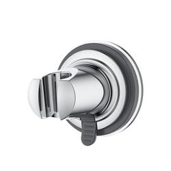 Rainsworth Brausehalter ABSHSZ, 18-25 mm Brausehalter Duschhalterung für Handbrause oder Duschkopf Für Badezimmer, Brausehalter und an der Wand montierte Saughalterung, ABS Grade Kunststoff, Verchromt